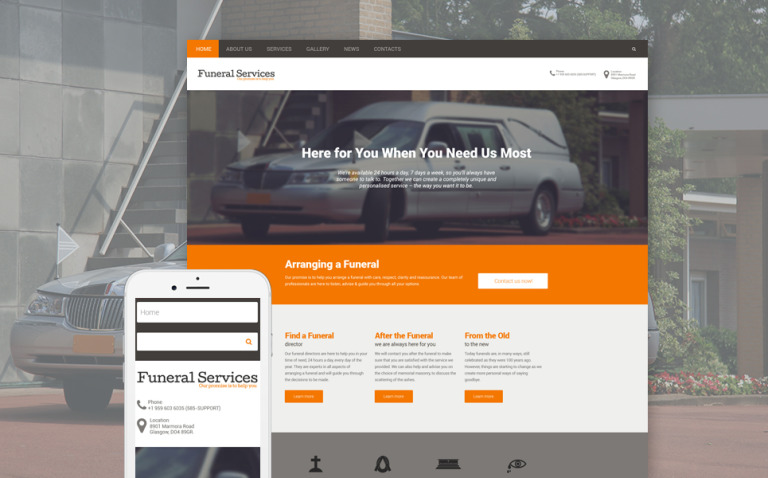 Funeral Services Responsive Drupal Template New Screenshots BIG