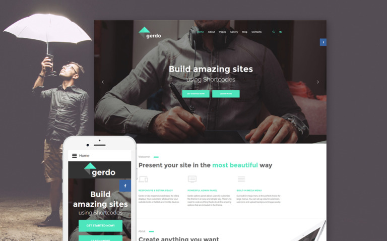 Gerdo Joomla Template New Screenshots BIG
