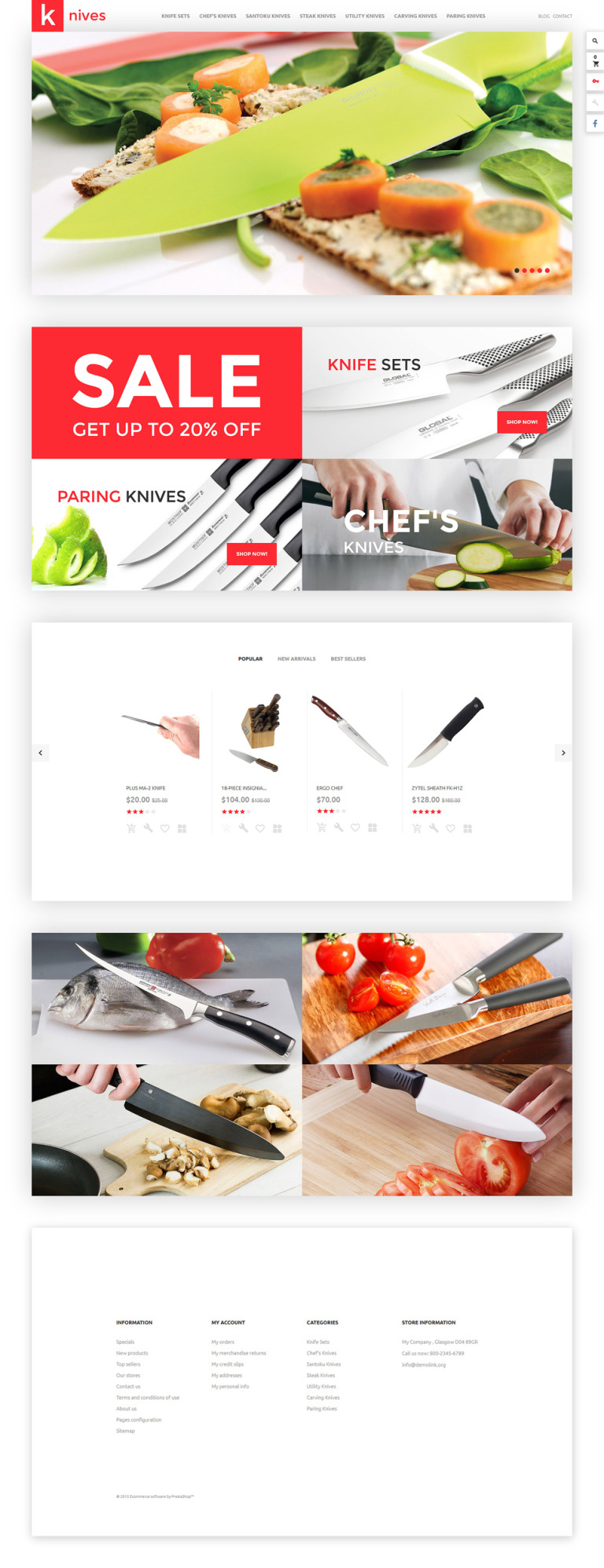 Knives PrestaShop Theme New Screenshots BIG