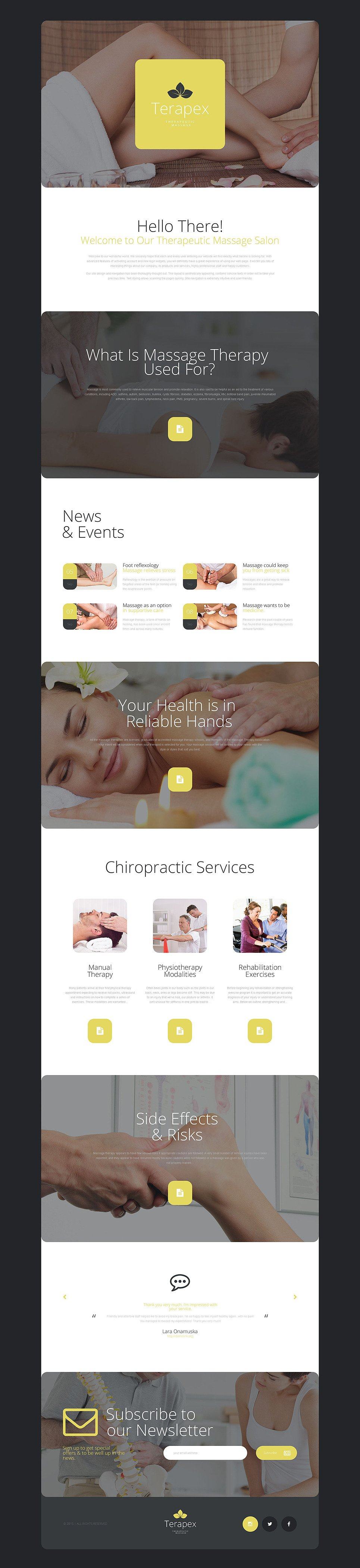 Massage Salon Responsive Landing Page Template New Screenshots BIG