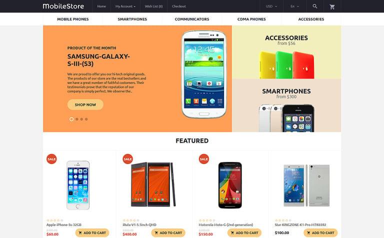 MobileStore OpenCart Template