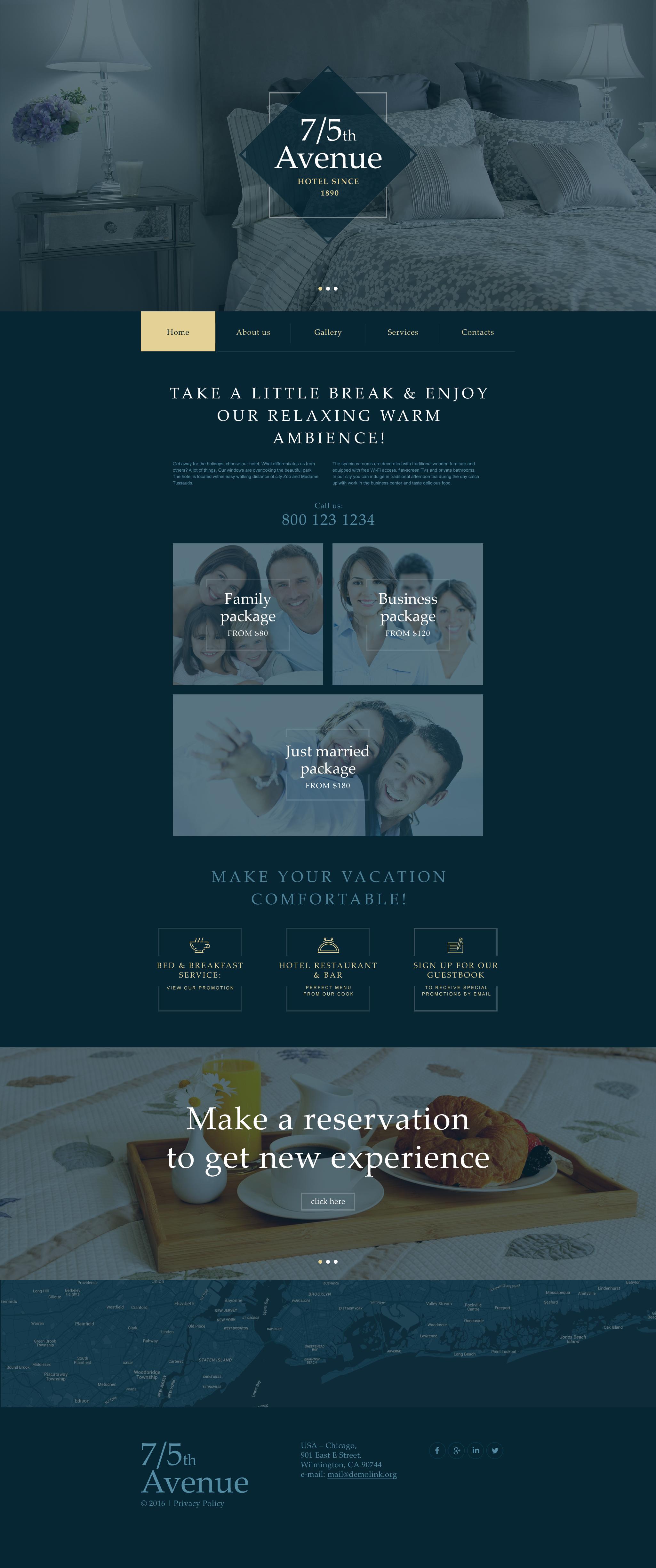 Modèle Muse pour site d'hôtel #57585 - screenshot