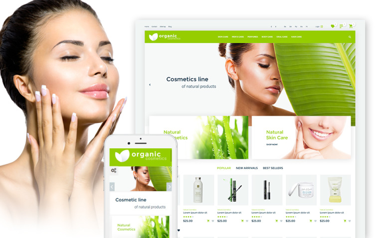 Organic cosmetics - responsive PrestaShop Theme New Screenshots BIG