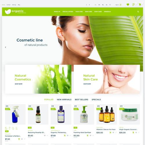 Organic Cosmetics  - Organic cosmetics responsive PrestaShop Template based on Bootstrap