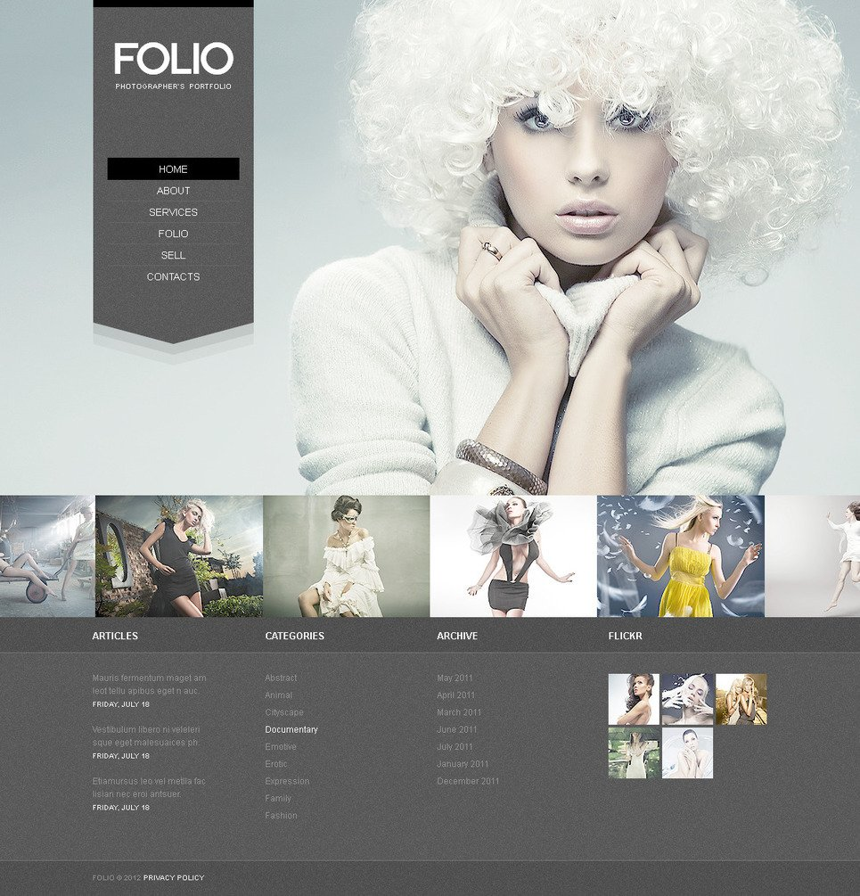 Photographer Portfolio PSD Template New Screenshots BIG