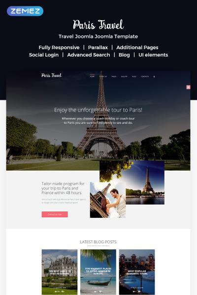 Responsive Plantilla Joomla #57576 para Sitio de  para Sitio de Viajes