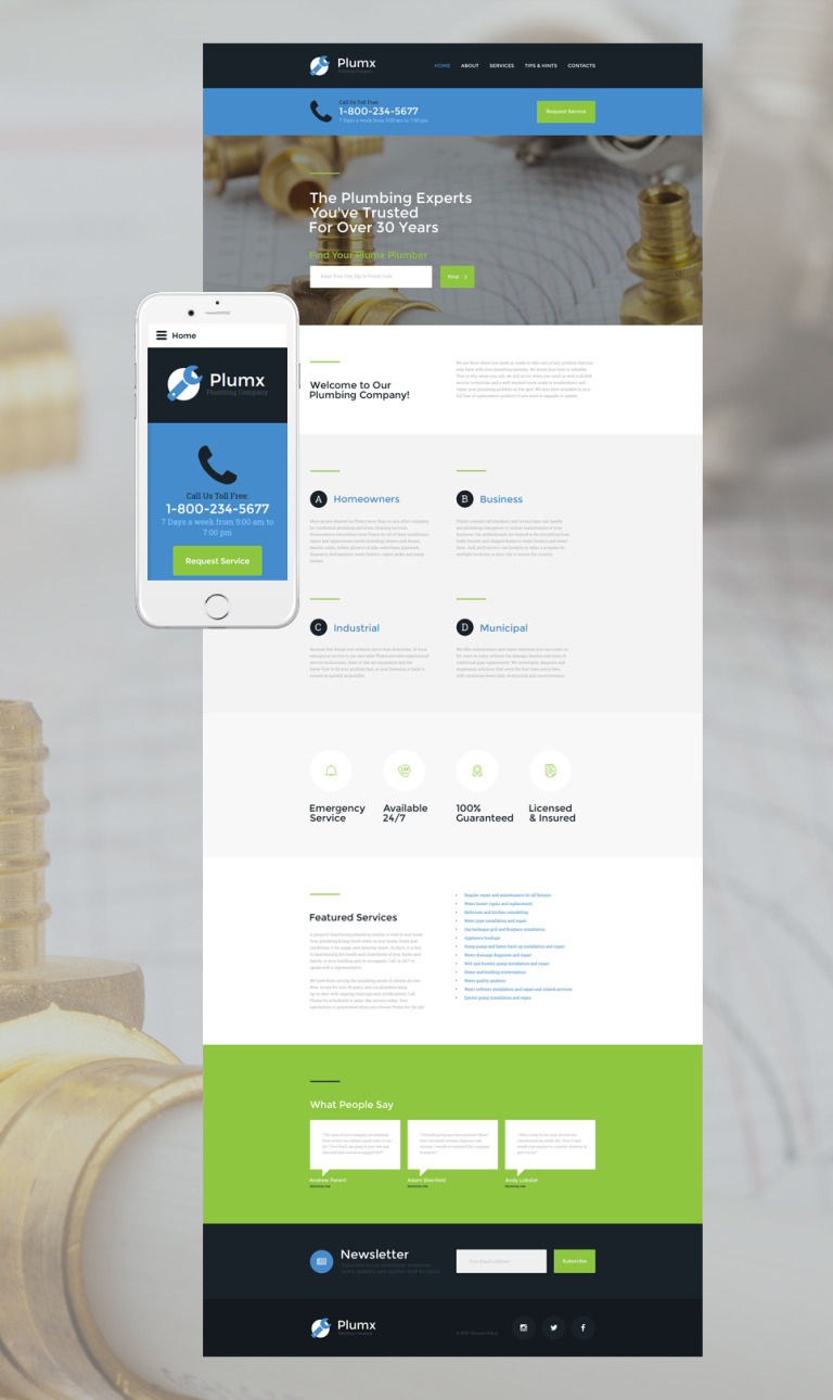 Plumx Website Template New Screenshots BIG