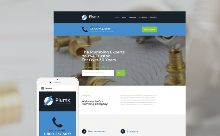Plumx Website Template