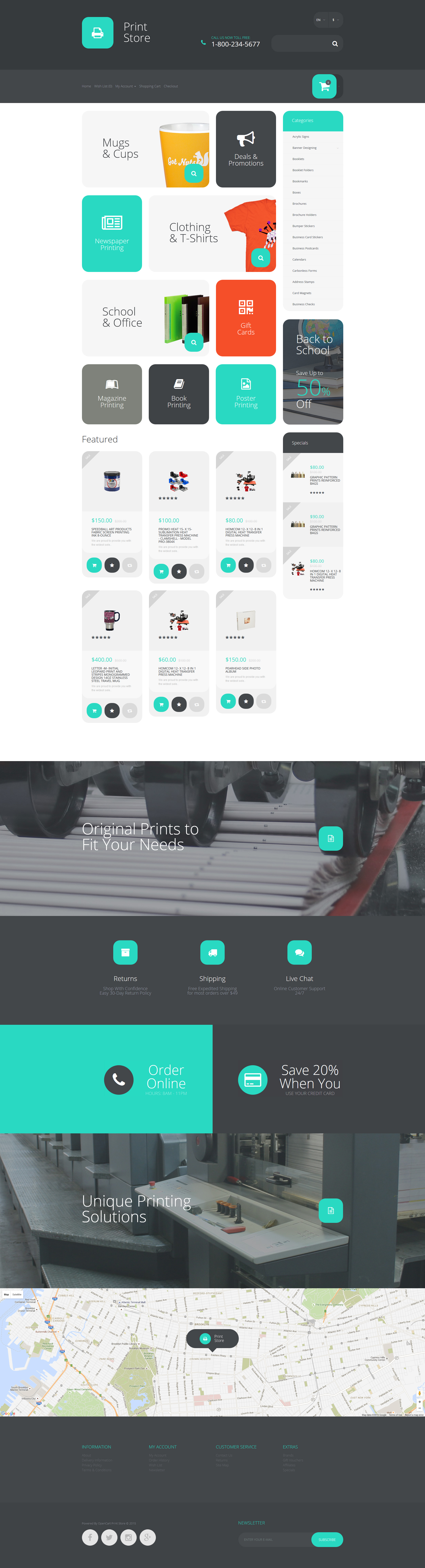 Printing Services OpenCart Template