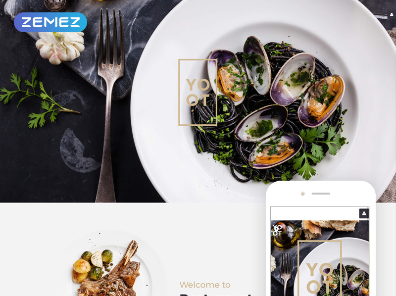 Responsive Joomla Template over Italiaans Restaurant  New Screenshots BIG