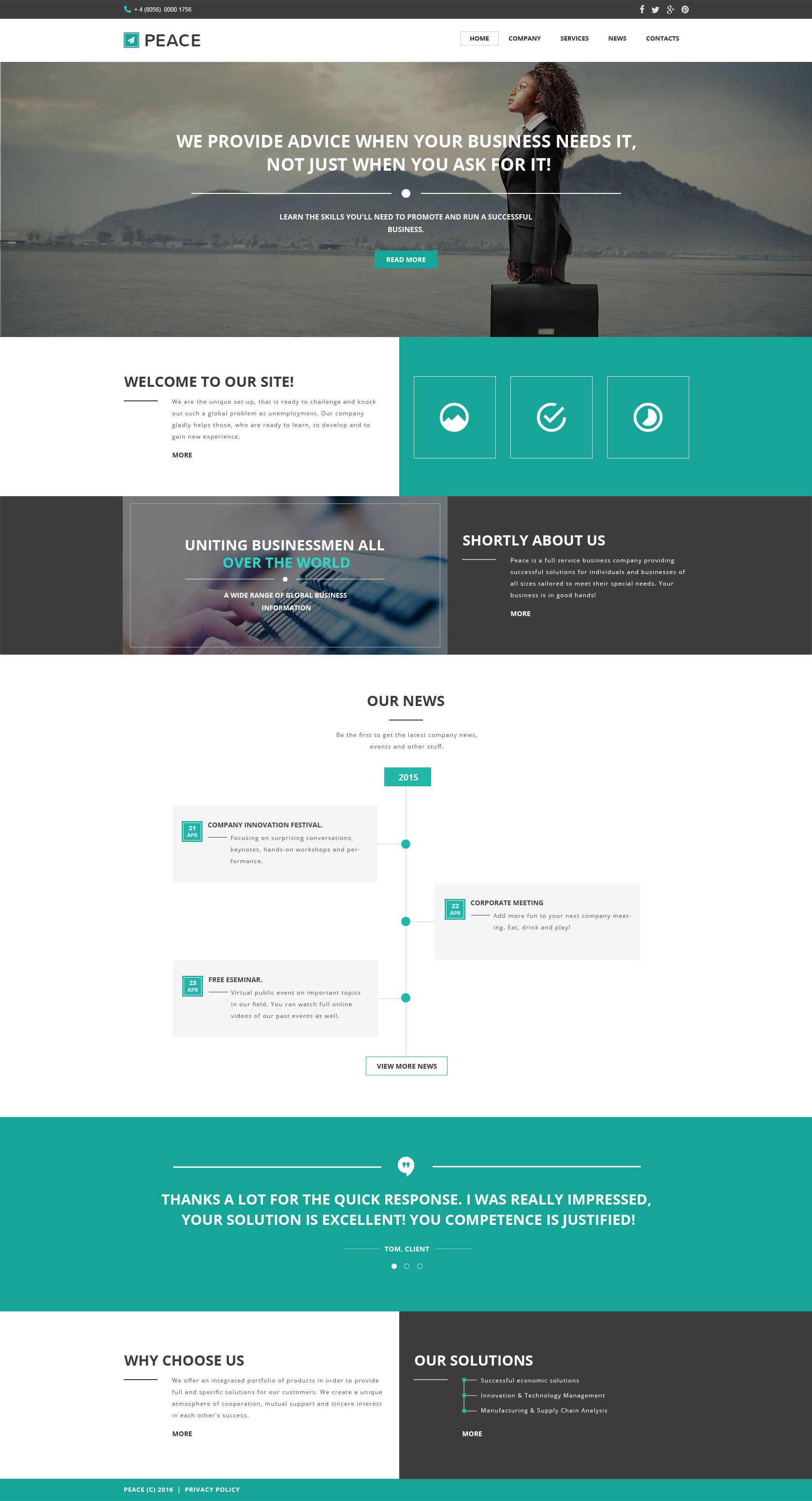 Website Vorlage #57549 für Business und Dienstleistungen