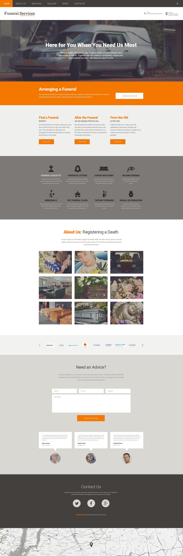 Responsywny szablon Drupal #57583 na temat: usługi pogrzebowe
