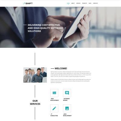 Responsywny szablon strony www #57551 na temat: biznes i usługi