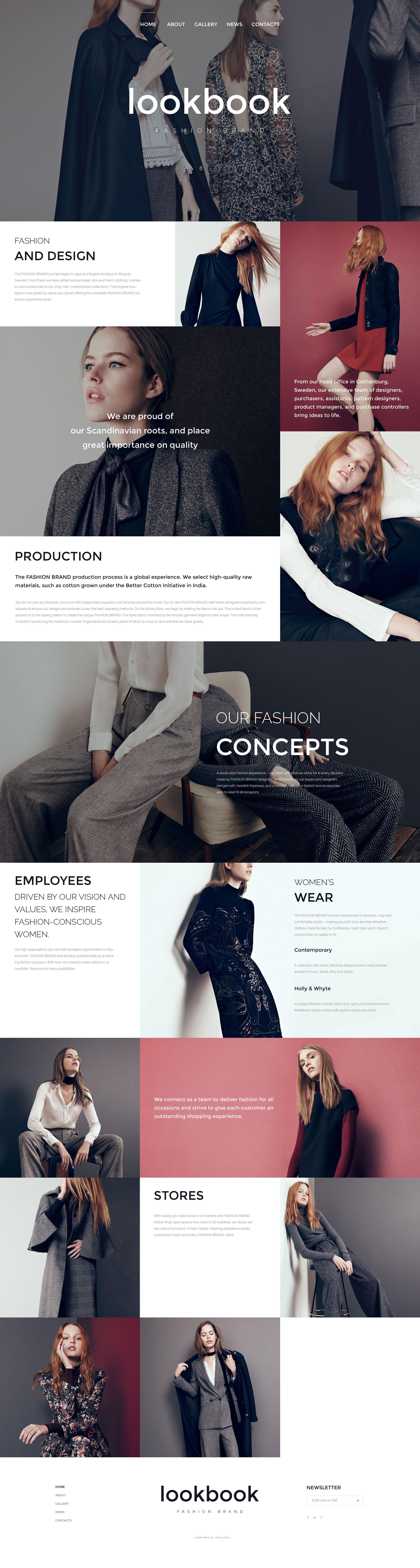 Responsywny szablon strony www #57578 na temat: moda - zrzut ekranu