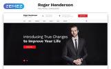 Reszponzív Roger Henderson - Political Candidate Classic Multipage HTML Weboldal sablon