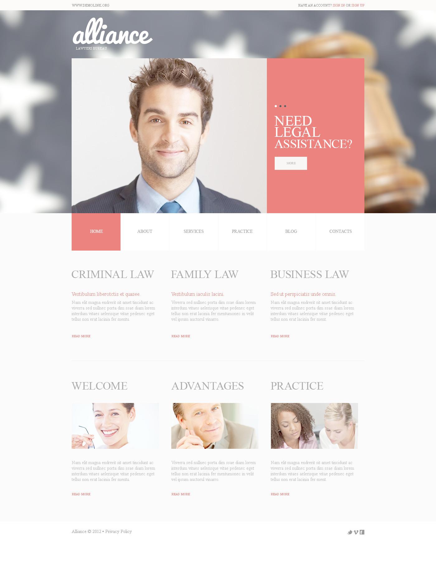 Szablon PSD #57505 na temat: firma prawnicza