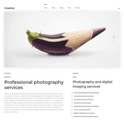 Responsive Tema De WordPress #57554 para Sitio de  para Sitio de Estudios fotográficos
