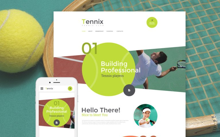 Tennix Website Template New Screenshots BIG