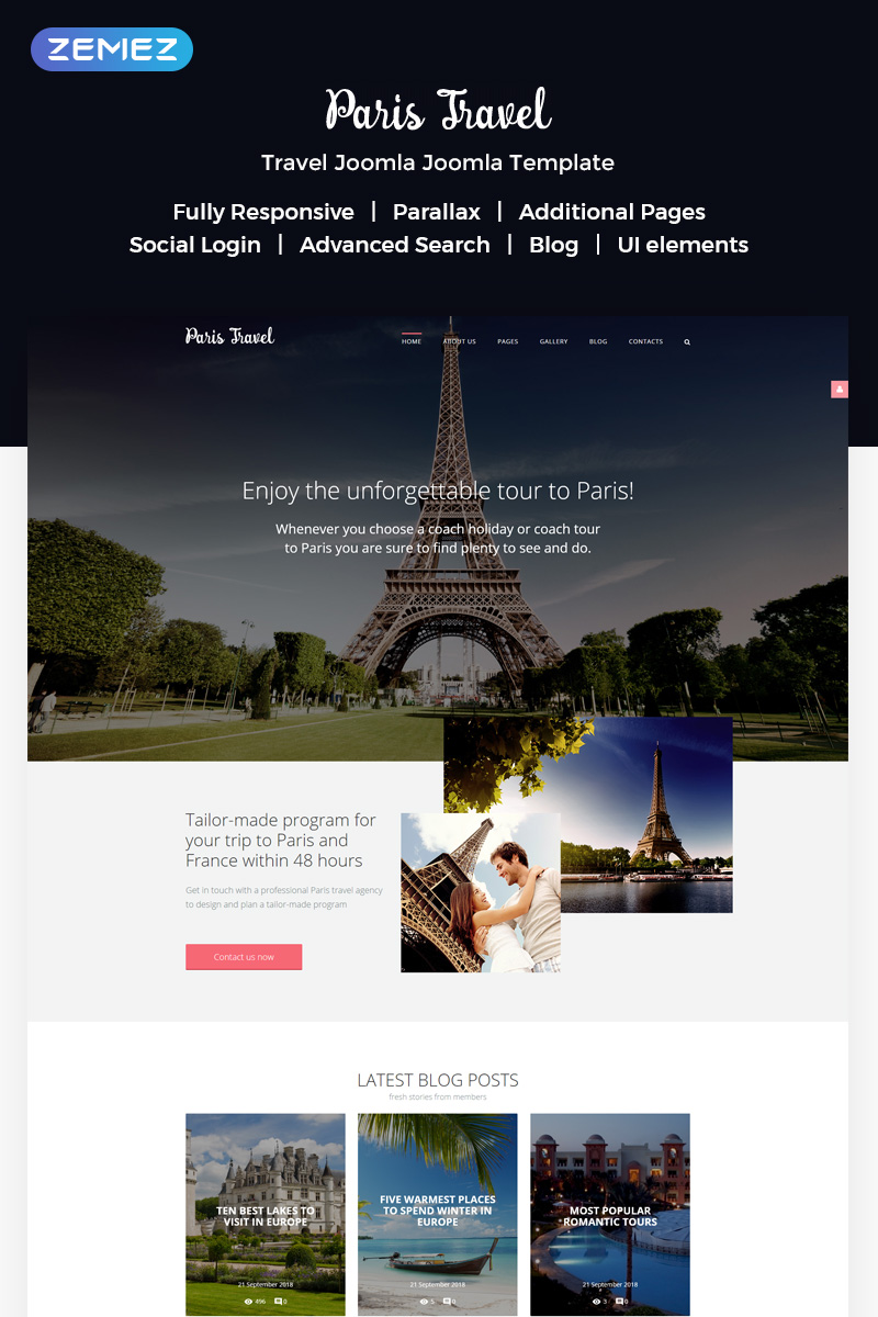 """Travel"" - адаптивний Joomla шаблон №57576"
