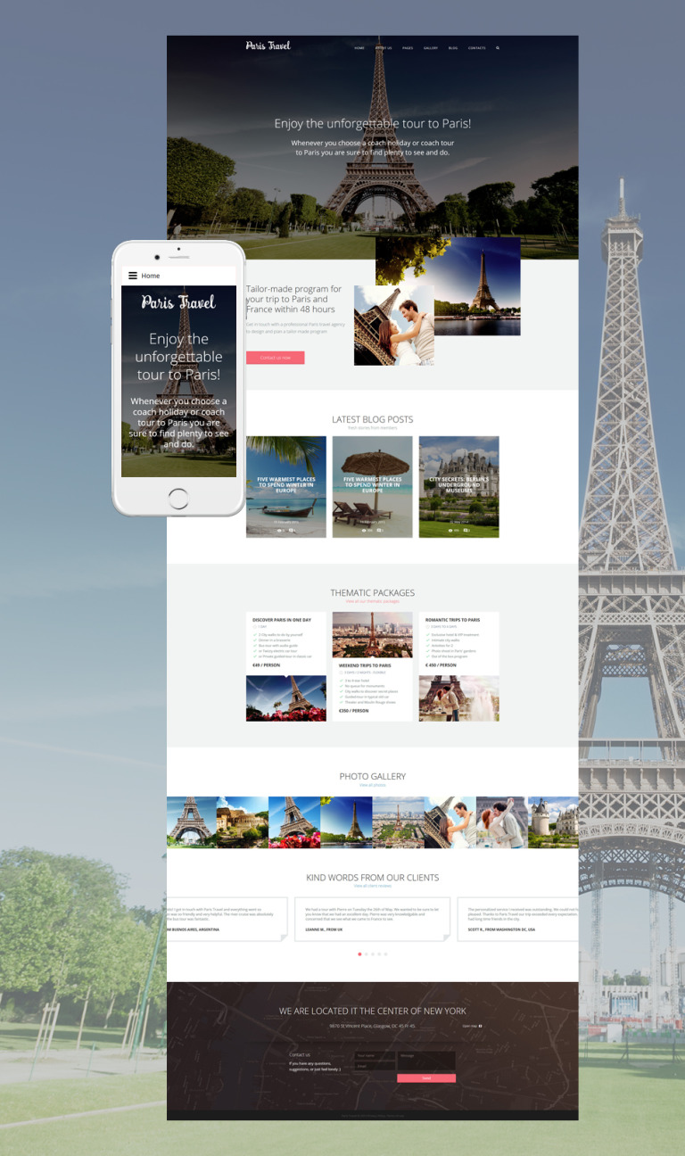 Travel Joomla Template New Screenshots BIG