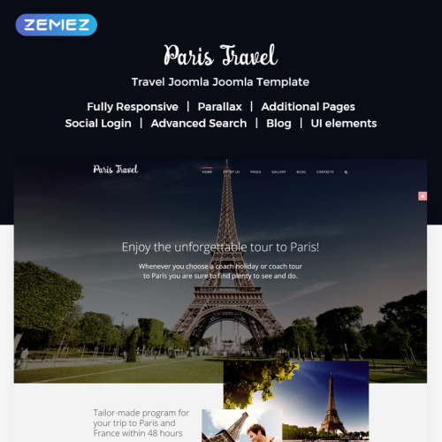 Paris Travel - Joomla! Template based on Bootstrap