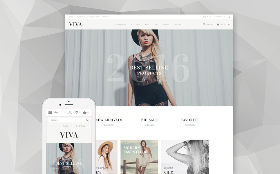 VIVA OpenCart Template New Screenshots BIG