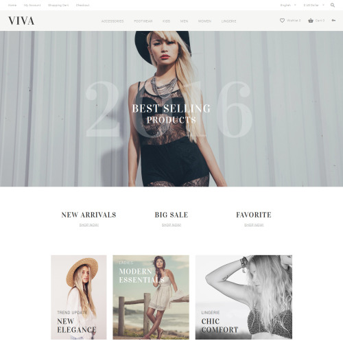 VIVA - OpenCart Template based on Bootstrap