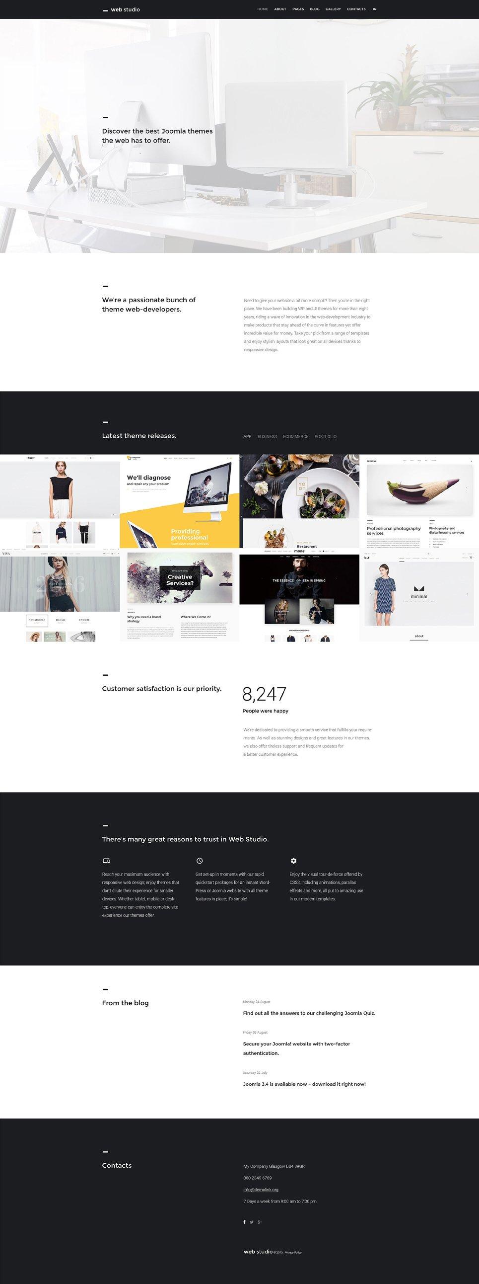 web design joomla theme. Black Bedroom Furniture Sets. Home Design Ideas