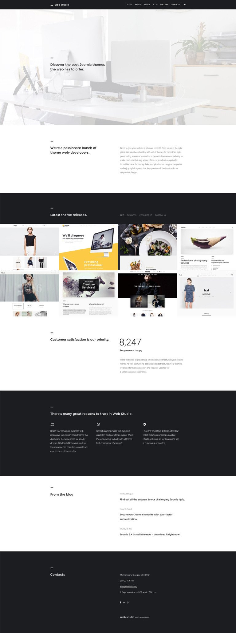 Web Studio Joomla Template New Screenshots BIG