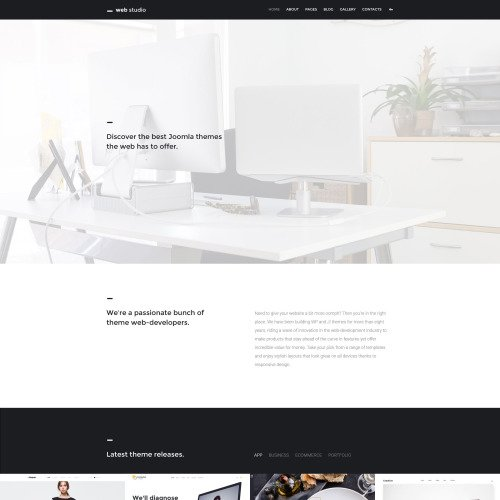 Web Studio - Joomla! Template based on Bootstrap