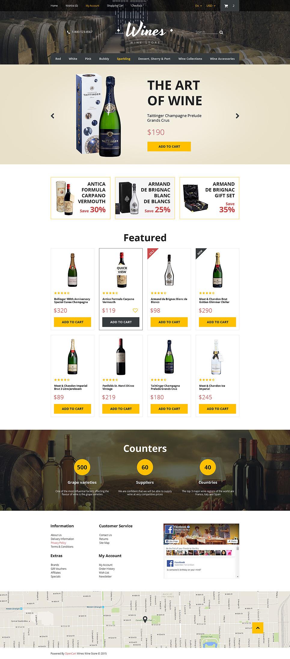 Wines OpenCart Template New Screenshots BIG