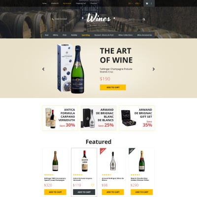 Wine templates templatemonster pronofoot35fo Gallery