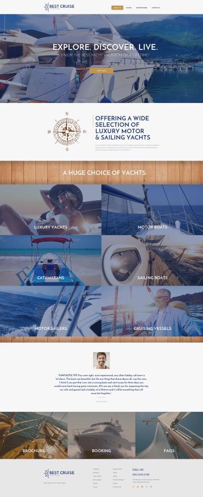 Yachting Responsive Шаблон сайту