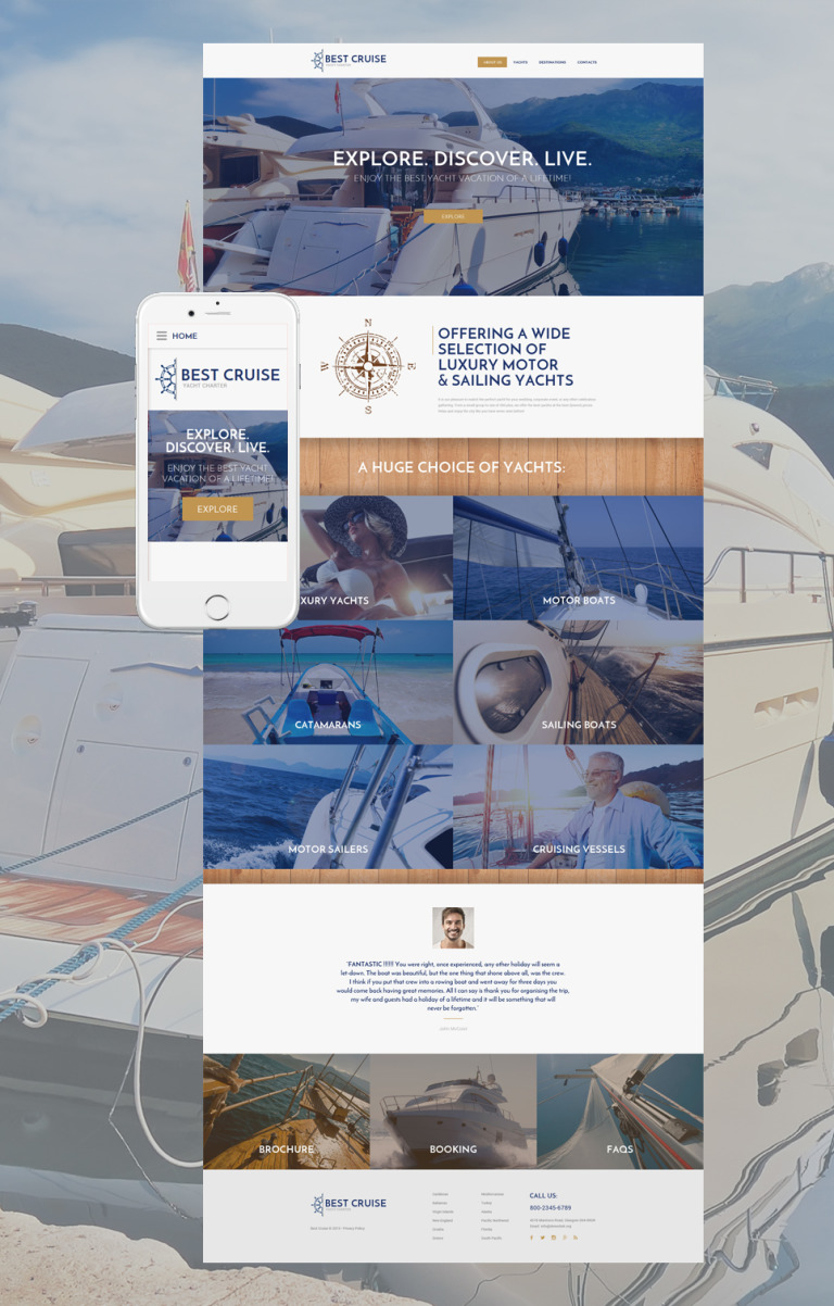 Yacht Charter Website Template New Screenshots BIG