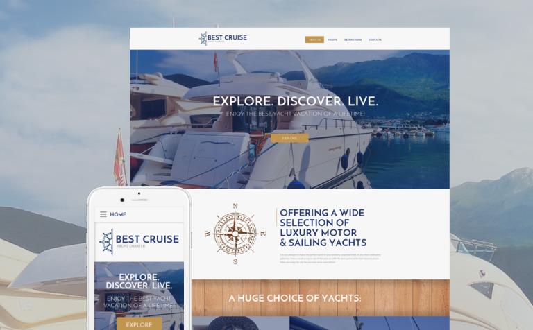 Yacht Charter Website Template