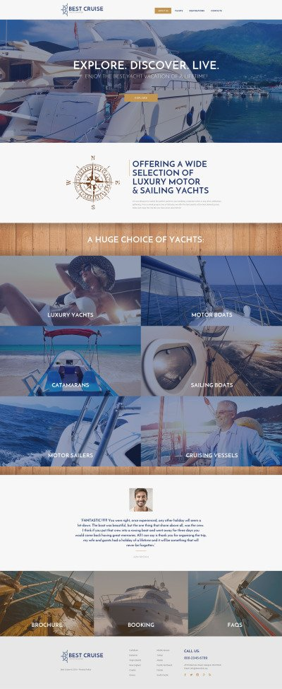 yachting templates templatemonster
