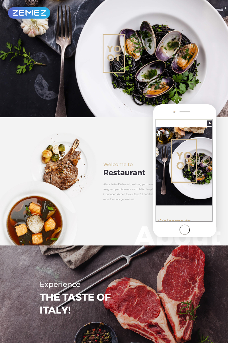 """YOOT - Gorgeous Restaurant"" 响应式Joomla模板 #57555"