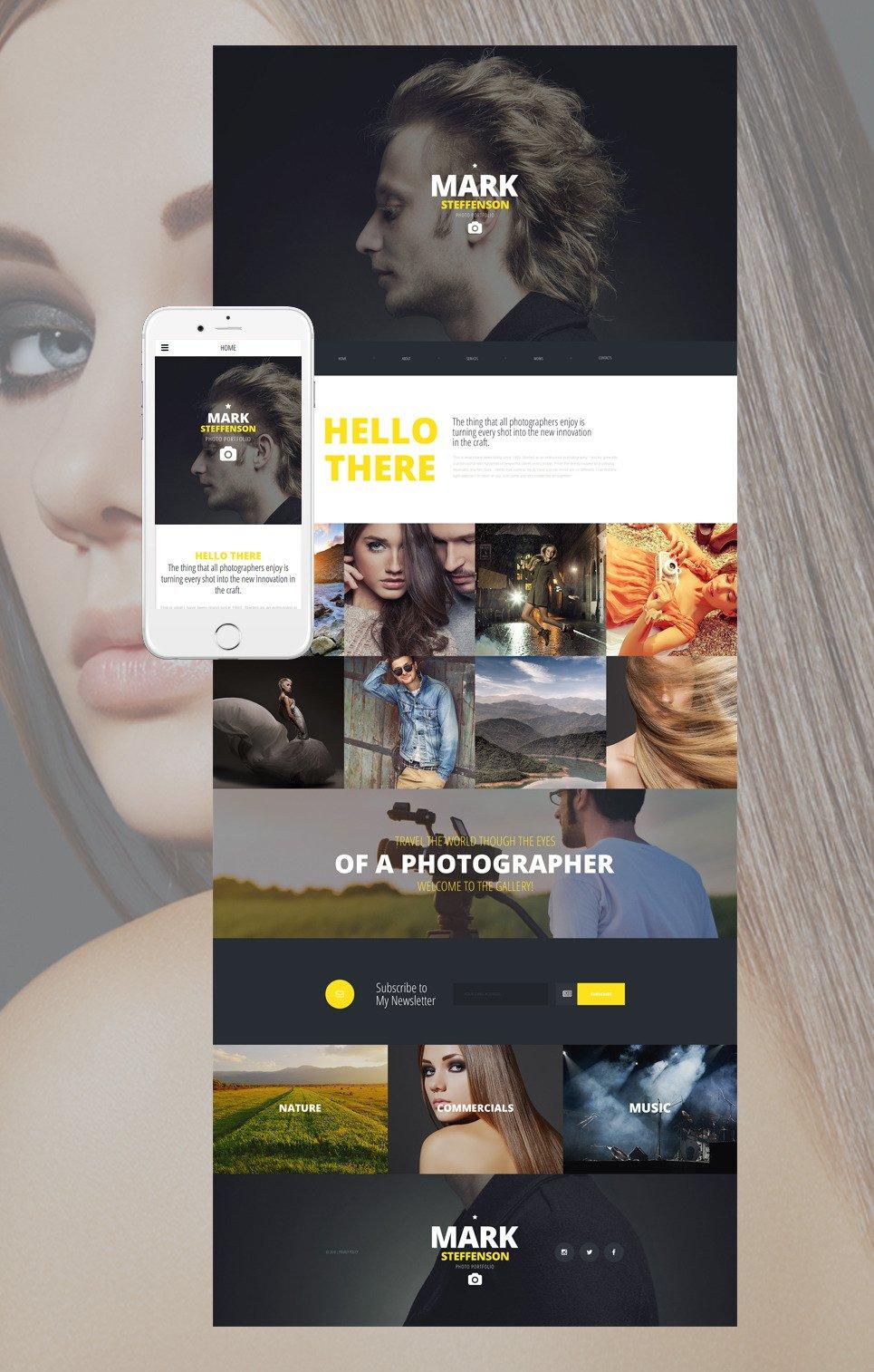 YourCV Website Template New Screenshots BIG