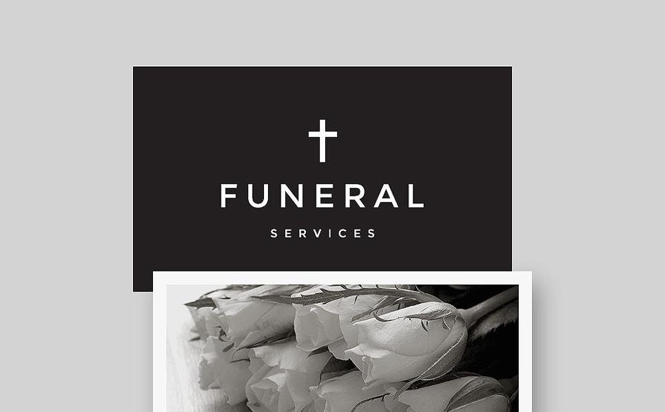 Responsywny szablon Newsletter #57604 na temat: usługi pogrzebowe New Screenshots BIG