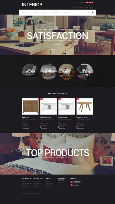 Inredningsdesign Responsivt OpenCart-mall