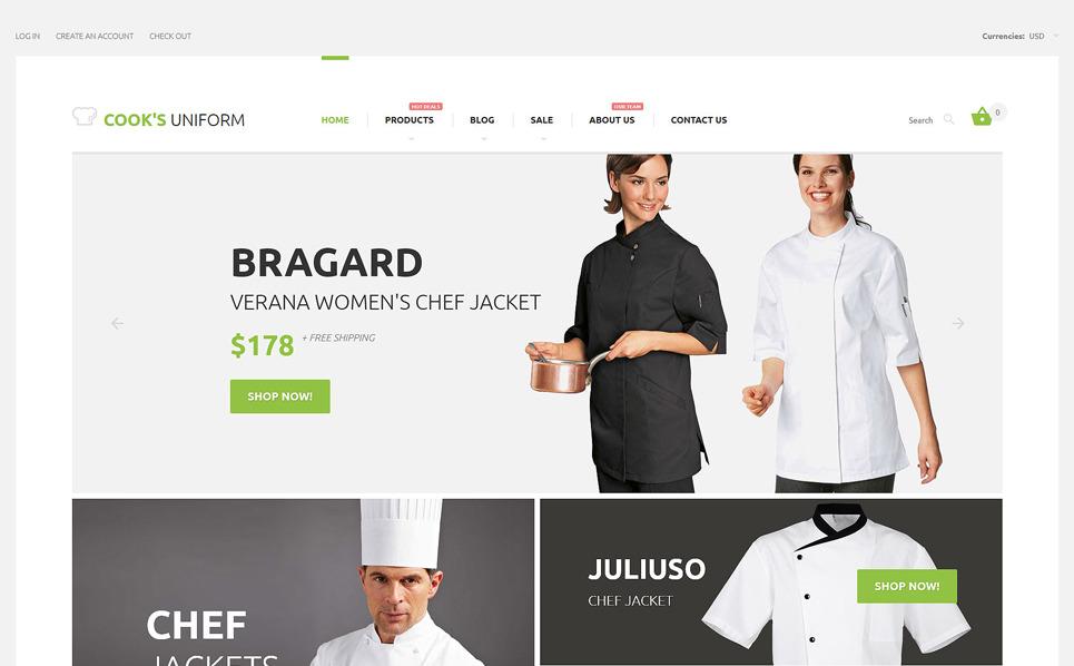 Tema Shopify Responsive #57606 per Un Sito di Negozio Uniformi New Screenshots BIG