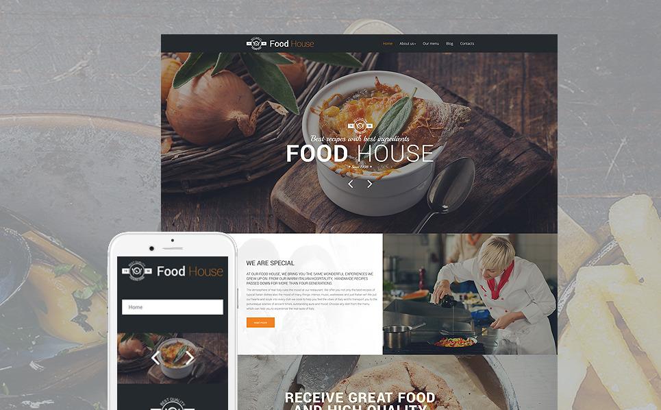 Food House Drupal Template New Screenshots BIG