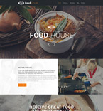Cafe & Restaurant Drupal  Template 57611