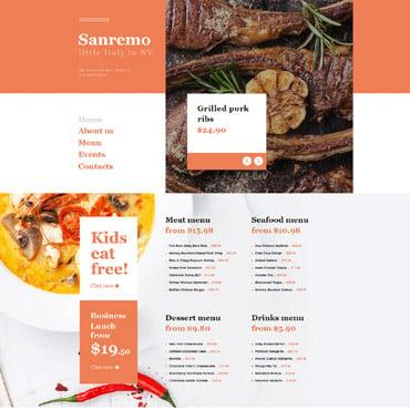 Купить Muse шаблон итальянского ресторана - Sanremo. Купить шаблон #57613 и создать сайт.