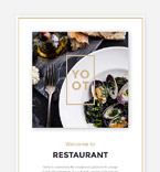 Cafe & Restaurant Newsletter  Template 57614