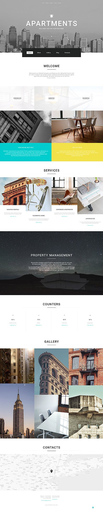 Real Estate WordPress Template 57617, WordPress Themes - Zeronese