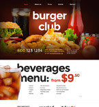 Cafe & Restaurant Website  Template 57620