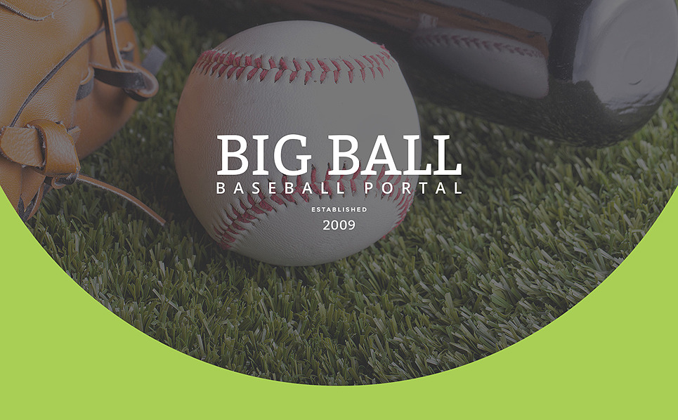 Адаптивний Шаблон цільової сторінки на тему бейсбол New Screenshots BIG