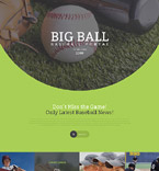 Sport Landing Page  Template 57628