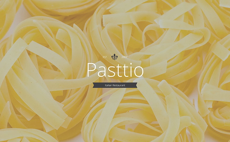 Адаптивний Шаблон цільової сторінки на тему італійський ресторан New Screenshots BIG